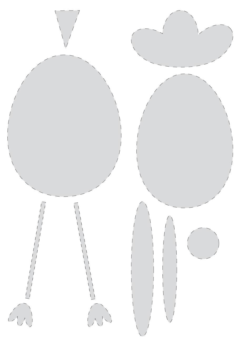 Coloriage Paques Guirlande.Guirlande Avec Des Poules Des Lapins Pour Paques Avec Wesco